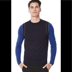 The Good Man Brand Merino Block Sweater